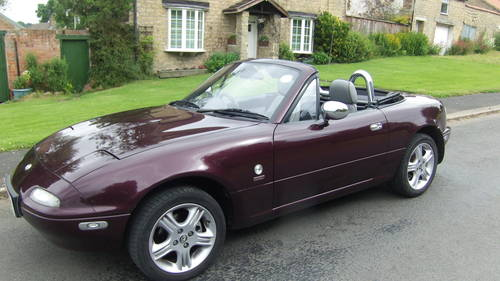 british classic cars for sale 1996 mazda mx5 merlot limited edition. Black Bedroom Furniture Sets. Home Design Ideas