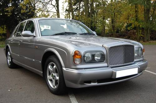 for sale 1998 s bentley arnage red label in silver tempest | classic
