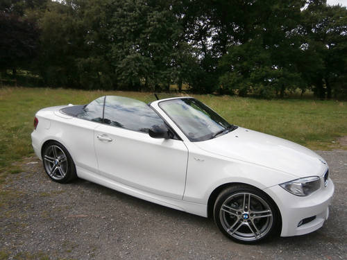 for sale 2013 bmw 118d sport plus convertible white just. Black Bedroom Furniture Sets. Home Design Ideas