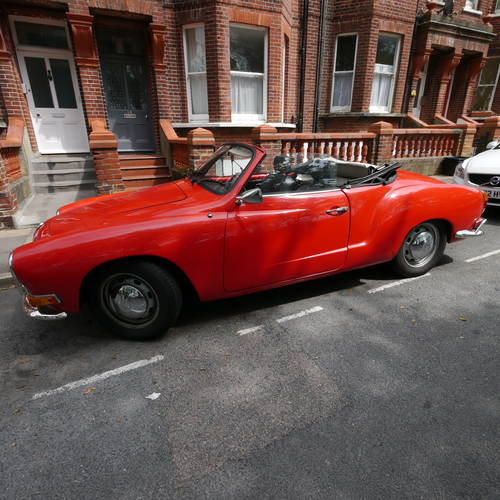 for sale 1970 great example vw karmann ghia cabrio red. Black Bedroom Furniture Sets. Home Design Ideas