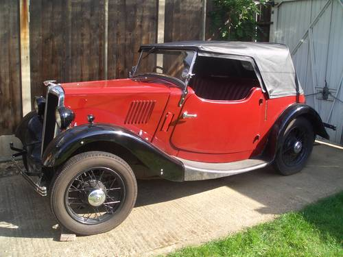 For Sale Morris 8, Two-seater Tourer (1934)