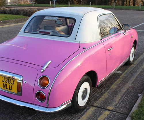 For Sale Pink Nissan Figaro Alarm/Central Locking (1991) | Classic ...