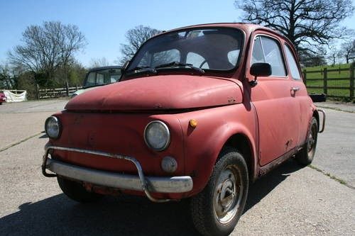 for sale fiat 500 restoration project italian import 1971 classic cars hq. Black Bedroom Furniture Sets. Home Design Ideas