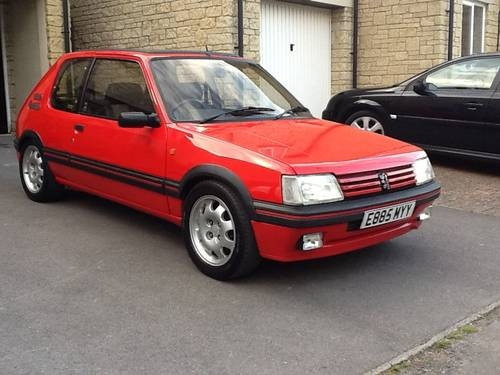 for sale unmolested 205 gti 1 9 for sale in oxfordshire 1988 classic cars hq. Black Bedroom Furniture Sets. Home Design Ideas