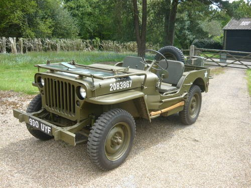Willys Jeep For Sale >> For Sale Willys Jeep Chassis Number Mb129759 1942 Classic Cars Hq
