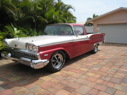 British classic cars for sale 1959 ford ranchero with galaxie trim