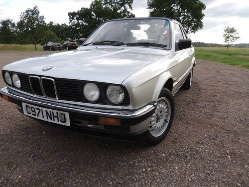 newest 53f3d 4fb35 For Sale – BMW 320i E30 BAUR Convertible silver (1985 ...
