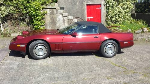for sale corvette convertible with manual transmission 1987 classic cars hq. Black Bedroom Furniture Sets. Home Design Ideas