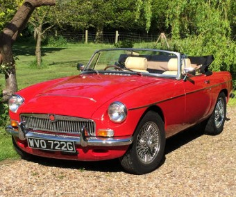 For Sale – MGC Roadster (Tartan Red/Cream Leather 1969
