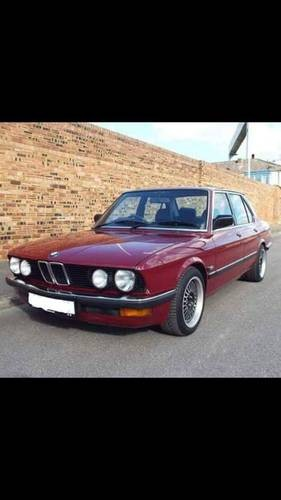 For Sale Bmw 520i E28 Sharknose Straight Six Manual 1985