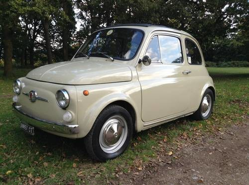 for sale fiat 500 f 1968 beige sabbia classic cars hq. Black Bedroom Furniture Sets. Home Design Ideas