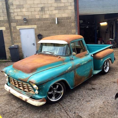 for sale 1955 chevrolet 3100 stepside pickup rat truck classic cars hq. Black Bedroom Furniture Sets. Home Design Ideas