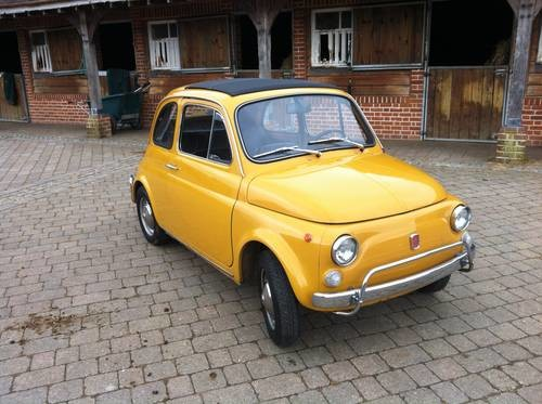 For Sale – Fiat 500 L Yellow (1970) | Clic Cars HQ.