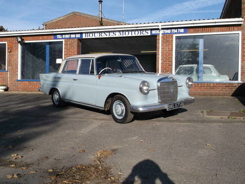 For Sale 1963 Mercedes 190 Heckflosse Fintail Saloon Classic