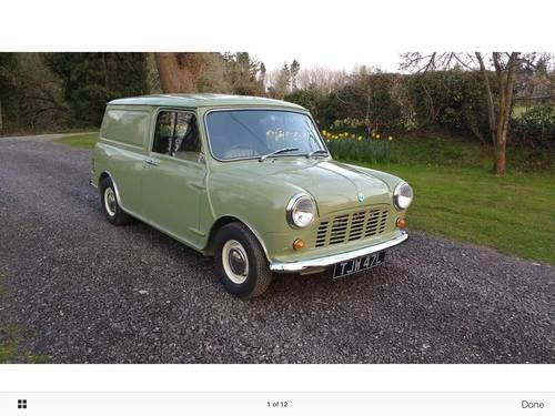 for sale fully restored classic mini van 1973 classic cars hq. Black Bedroom Furniture Sets. Home Design Ideas