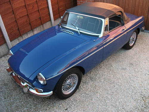 For Sale – MGB Roadster, 1968, Wire Wheels,Chrome Bumpers,O