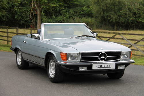 For sale mercedes benz 500 sl 1984 silver blue with for Mercedes benz co uk