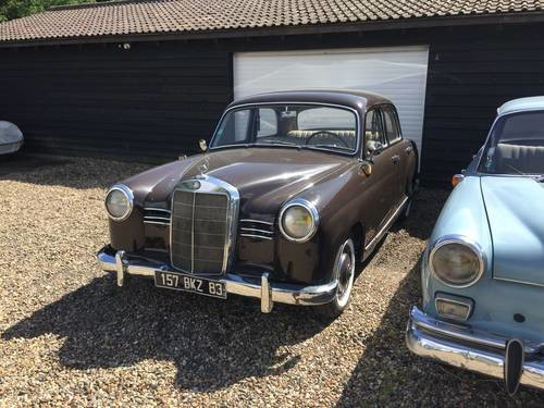 for sale 1954 mercedes benz 190 diesel ponton classic cars hq. Black Bedroom Furniture Sets. Home Design Ideas