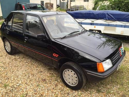 for sale peugeot 205 gt finished in black 1984 b reg classic cars hq. Black Bedroom Furniture Sets. Home Design Ideas