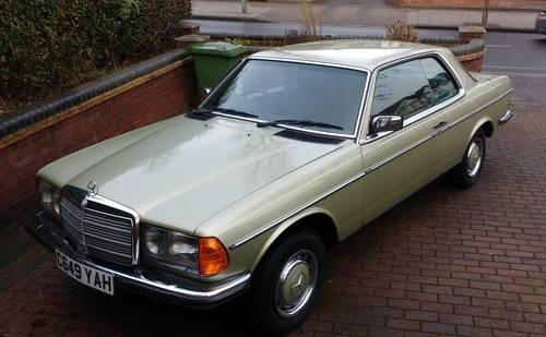 For Sale – Mercedes 230 CE Coupe – Low Mileage (1985