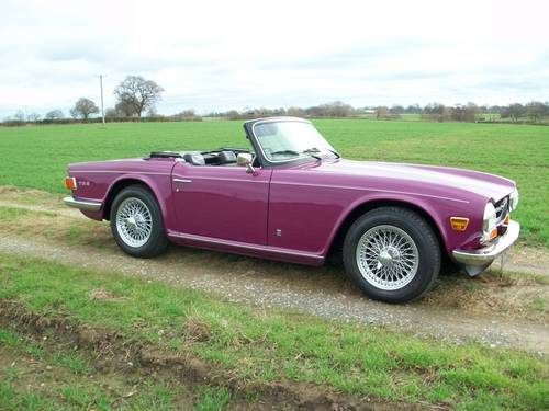 For Sale – 1973 Triumph TR6 in Magenta  Lovely example  | Classic