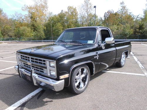 for sale 1985 chevrolet silverado short bed lowered classic cars hq. Black Bedroom Furniture Sets. Home Design Ideas