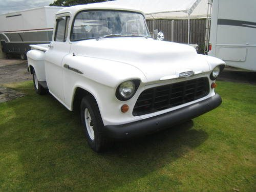 for sale 1956 chevy stepside pick up truck 3200 long bed classic cars hq. Black Bedroom Furniture Sets. Home Design Ideas