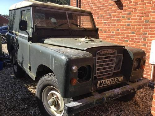 For Sale – Land Rover Series 3 SWB Restoration Project (1973