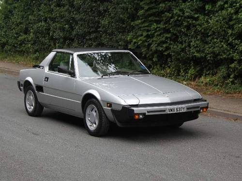 for sale fiat x1 9 bertone 5 speed 15326 miles from new for sale 1982 classic cars hq. Black Bedroom Furniture Sets. Home Design Ideas