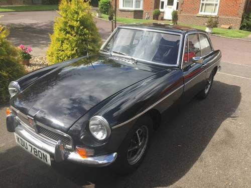for sale beautiful mgb gt classic british sports car 1975 classic cars hq. Black Bedroom Furniture Sets. Home Design Ideas