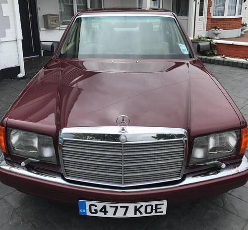 For sale mercedes 500 sel w126 flagship car 1989 for Mercedes benz flagship car