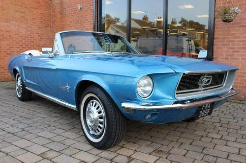 for sale 1968 ford mustang convertible 289 v8 auto classic cars hq. Black Bedroom Furniture Sets. Home Design Ideas