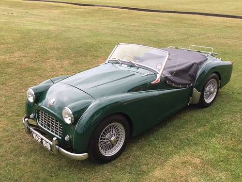 for sale triumph tr3 small mouth stunning example 1957 classic cars hq. Black Bedroom Furniture Sets. Home Design Ideas