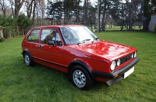 for sale 1983 vw mk1 golf gti 1800 mars red fsh time warp classic cars hq. Black Bedroom Furniture Sets. Home Design Ideas