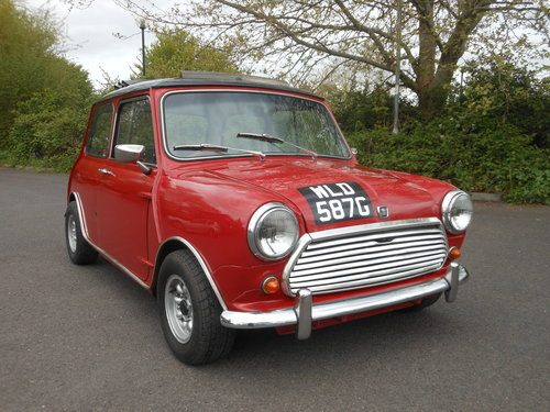 For Sale 1969 Morris Mini Cooper Mk2 Tartan Red With