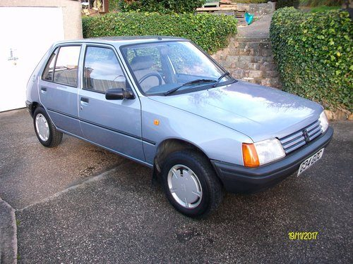 For Sale  U2013 1989 Peugeot 205 Gr  U2013 Immaculate Condition