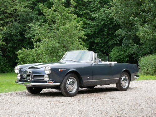 for sale 1964 alfa romeo 2600 spider rhd classic cars hq. Black Bedroom Furniture Sets. Home Design Ideas